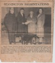 VJA557 Press cutting Miss Kiddle, enrolling member into Seavington Mothers Union. Annie Swain, Lady Pizey, Rev. Weaver