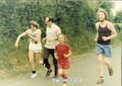 ASH023 Sponsored run Football Club  Paul Retter, Peter Ash, Don Crisp & his son