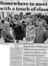 April 1998 - Western Daily Press report about opening of The Millenium Hall