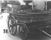 DBR340 1903  Sidney Vaux with the cart he made for the Jacobs at Hurcott Farm