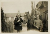 DVA048 Hunts House 1940's  Audrey Rutter on left of pony