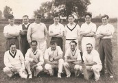 GDE313 Cricket team - BackRow:   ?Male, Henry Clarke ,Sidney Rowsell, Gordon Denman,  Ron Swain?,? Bool, ? Lawrence  Front Row  ?, Cliff Male?, Ted Shires, Roy Ash and 'Murphy' Allen