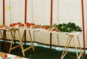 JSI476  1992 Flower Show in Ilminster Scouts Tent - 'vegetables'