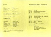 MHA411 1981 Programme for the opening of the wooden Pavilion on Seavington Playing Fields