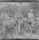 MPA144 Hilda, Jack & Gladys Buckrell who lived at the Old Parsonage before the Webb family