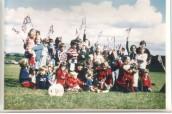 PPR572 1F77 ueen Elizabeth II Silver Jubilee - children on Playing field