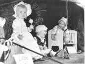 PPR385 1980 2 Seavington Children Float Ilminster Carnival Little Bo Peep - Sian Parsons, Little Boy Blue - Laurie Tratt, Diddle Dumpling - Glyn Jones