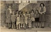 PWI316 School Group: Back Row: Mrs Cowen(Head Teacher),Pamela Manners, Terry Rowswell, Christine Coveney, Hazel Bonning, Jennifer Sills, Judith Holly, Melvyn Bool, Miss Martin. Front Row: Veronica Sills, Julie Wills, Wendy Brown, Pat Hill