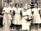 PWI317 At a church fete - Wendy Swain, Pamela Manners,Christine Coveney, Veronica Sills, ?, Christine Wensley, Carol Wensley