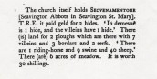 SWM 329 Translation of Domesday Book entry for Seavington Abbots