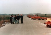 MWH816 21.02.88. A303 Construction Seavington - Lopenhead Sarah White Nee Diamond, Paul White, Barb Male, Lynn Parfoot (Nee White), Allan White, Sid Male