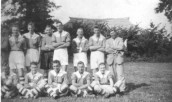 MWH829 Football Team -Back Row: B. Baker, H. Drayton, H. Bonning, K. Harris, S. Male, J. Bonning, H.Brake  Front Row: H. Clark, G. Fouracre, G. Matthews,? Swain,E. Tolman