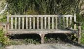 SWM347 St Michael's memorials - bench dediicated to Miss Kiddle, teacher at Seavington Village School